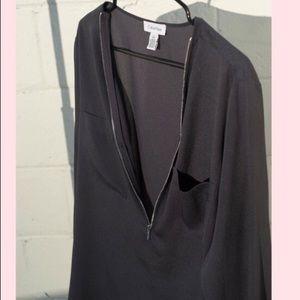 Calvin Klein zip dress shirt